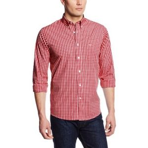 Dockers Gingham Button Front Long Sleeve Shirt